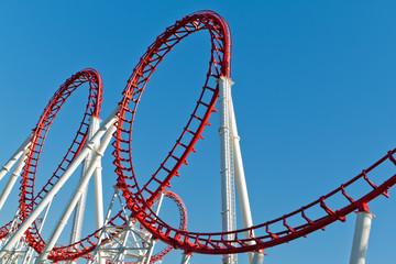 Deurstickers Amusementspark Roller Coaster