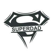 superman style superdad Logo Monogram for Fathers day