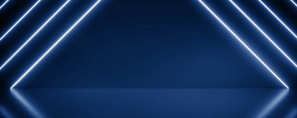 Panorama Background neon Abstract Phantom Blue with Light Shape