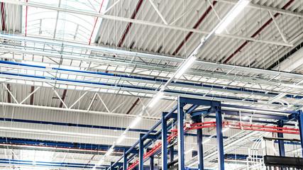 Oświetlenie LED, hala przemysłowa Fototapete