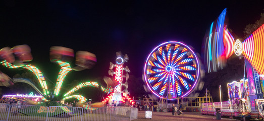 Canvas Prints Amusement Park Carnival at Night 2
