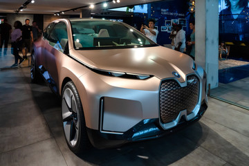 BMW iNext Concept car in the exhibition building in Munich, Germany