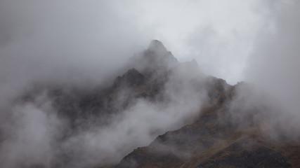 Wall Murals Gray misty mountain
