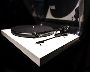 Angled View of a Turntable