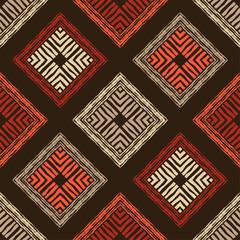 Foto auf AluDibond Boho-Stil Ethnic boho seamless pattern. Lace. Embroidery on fabric. Patchwork texture. Weaving. Traditional ornament. Tribal pattern. Folk motif. Vector illustration for web design or print.