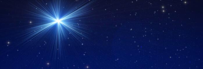 Door stickers Universe Milky way stars on a dark night sky.