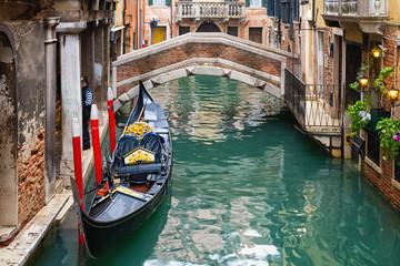Foto op Canvas Gondolas Venedig / Gondel