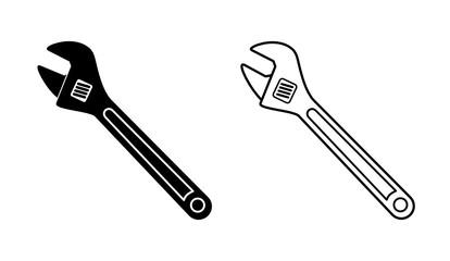 Obraz klucz francuski ikona - fototapety do salonu