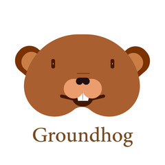 Groundhog Head Icon, vector art illustration.
