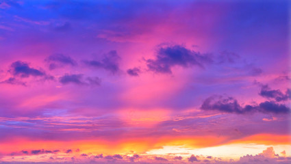 Foto op Canvas Candy roze The beautiful of nature are purple sky and gray clouds.