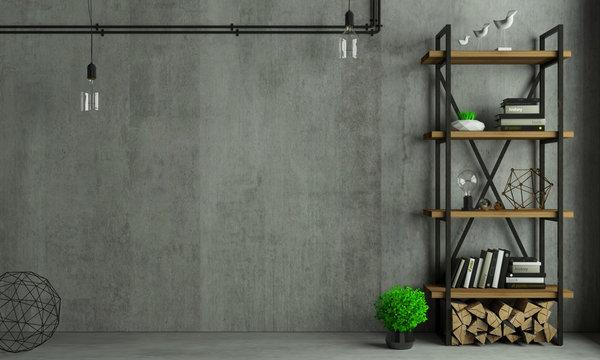 Loft interior background old wall