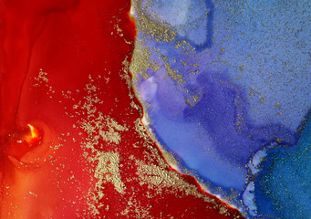 Abstract paint blots background. Alcohol ink colors. Marble texture.
