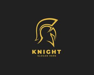 warrior sparta logo vector template. strong knight symbol