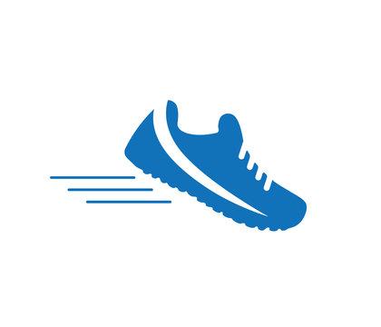 trail running shoe icon blue version