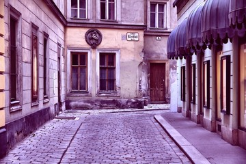 Wall Mural - Vienna Old Town. Retro filter color tone.