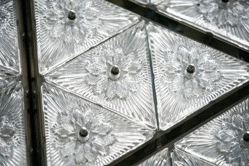 Waterford Crystal triangles are seen on the Times Square New Year's Eve Ball atop the roof of One Times Square in the Manhattan