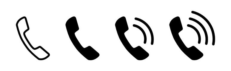 Fototapeta słuchawka telefoniczna ikona obraz