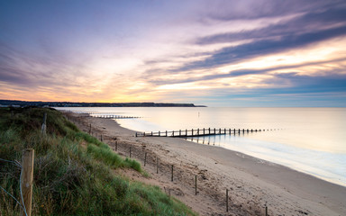 Wall Mural - Sunrise at Dawlish Warren Beach - Devon, England