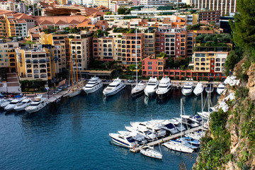 view of the Port of Fontvieille in  Monaco