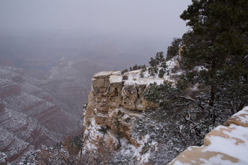 Wall Murals Northern Europe A dusting of snow at the Grand Canyon