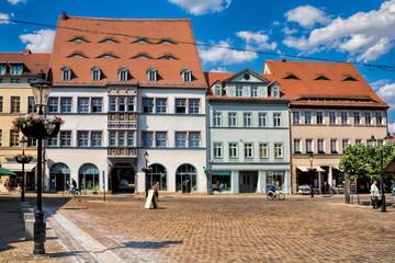 Fotomurales - naumburg, deutschland - historischer holzmarkt mit sanierten altbauten
