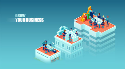 Vector concept of a business growth and success