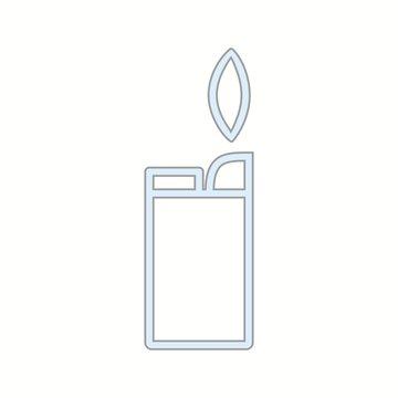 Unique Lighter Vector Line Icon