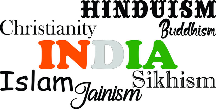illustration image of major Indian religion
