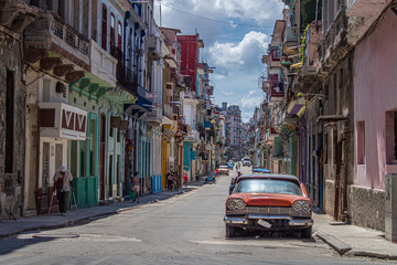 Canvas Prints Havana Havana street