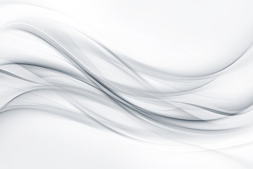 Photo sur Plexiglas Fractal waves Bright gray and white waves background.