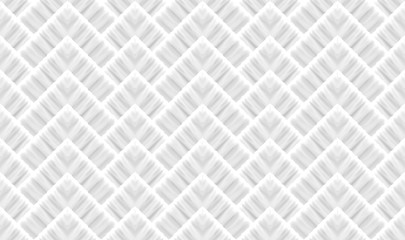 3d rendering. seamless modern light gray square grid pattern wall background. Wall mural