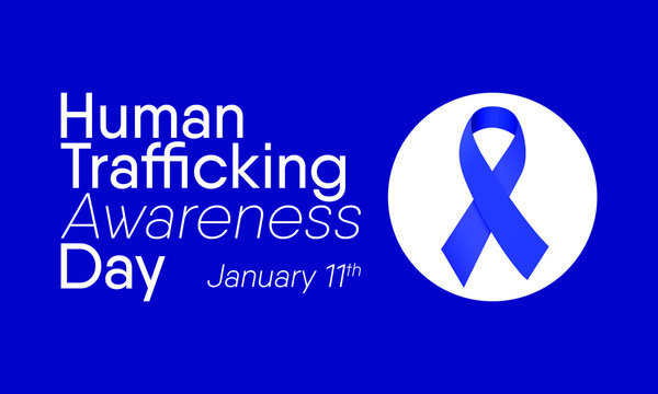 Vector illustration on the theme of National Human trafficking Awareness Day On January 11th