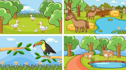 Photo sur Aluminium Jeunes enfants Background scenes of animals in the wild