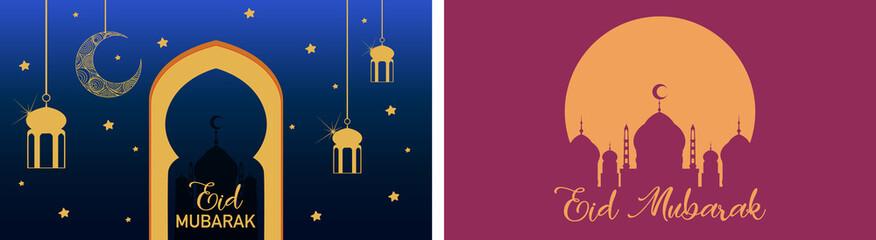 In de dag Kids Background design for Muslim festival Eid Mubarak