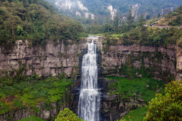 Fototapeten Lavendel The famous Tequendama Falls located southwest of Bogotá in the municipality of Soacha