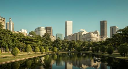 Fototapete - Panorama of Rio de Janeiro city center, Brazil