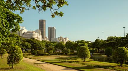 Fototapete - Public park in Rio de Janeiro, Brazil