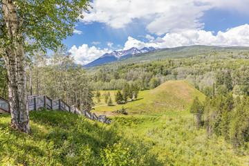 Gitwangak Battle Hill National Historic Site near Kitwanga, British Columbia, Canada