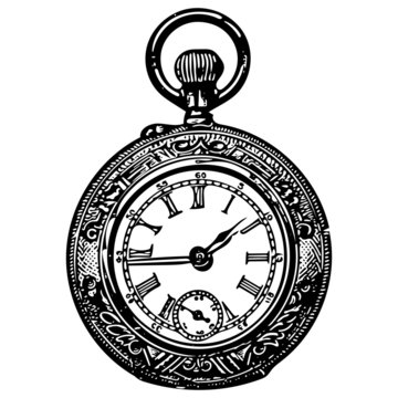 vintage pocket watch, authetic 1900's catalog item