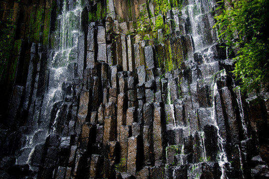 Waterfall Over Rectangle Stones - Suchitoto, El Salvador