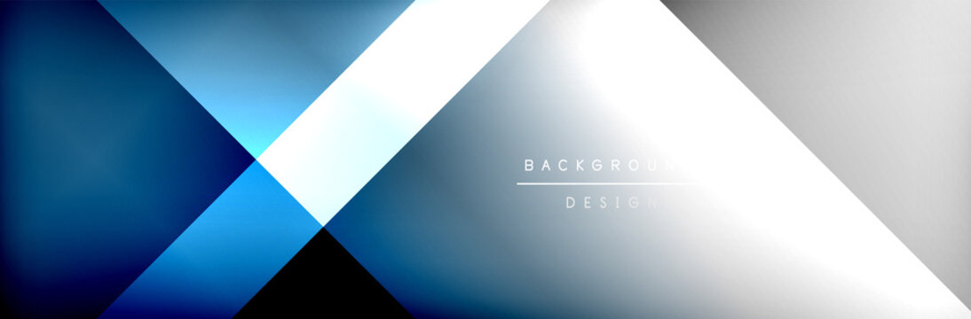 Abstract background - squares and lines composition created with lights and shadows. Technology or business digital template