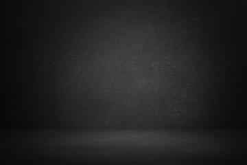 Fototapete - Dark and black studio room
