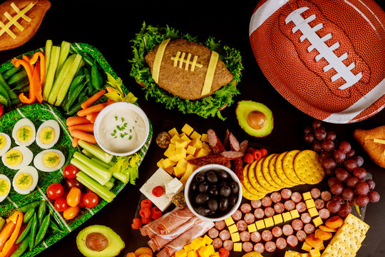 Super bowl game catering food, appetizer for party.