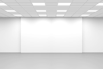 Abstract white empty open space office interior Wall mural