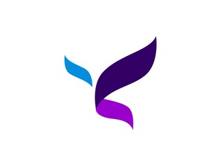 Abstract logo with shape butterfly vector