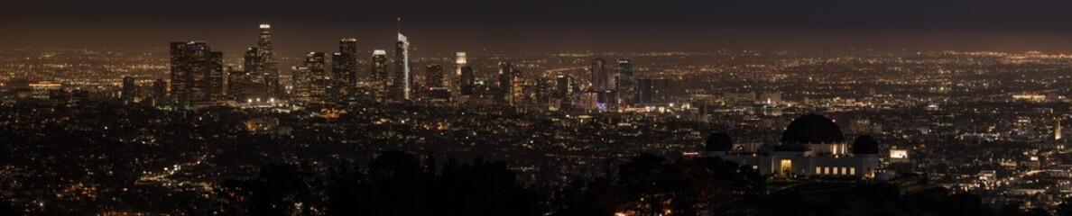 Fotorolgordijn Chocoladebruin Los Angeles panorama view