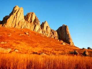 In de dag Oranje eclat valley of fire