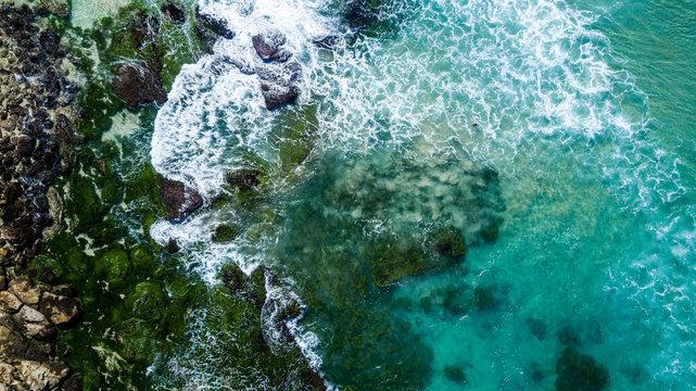 Aerial View next to Bondy Beach near Sydney