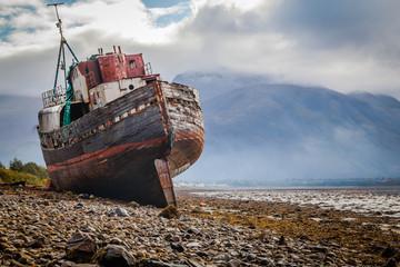 Acrylic Prints Shipwreck The Corpach shipwreck at Loch Linnhe