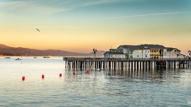 Sunset on the pier beach